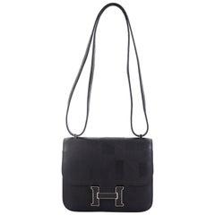 Hermes Constance Handbag Limited Edition On A Summer Night Printed Sombrero 18