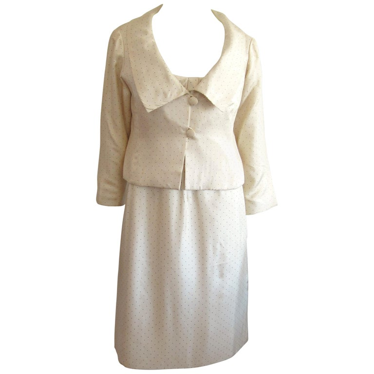 1964 Christian Dior 2 Piece Marc Bohan Dress - Jacket Suit Numbered 123094 For Sale