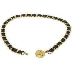 Chanel GHW Black Lambskin Vintage Chain Belt
