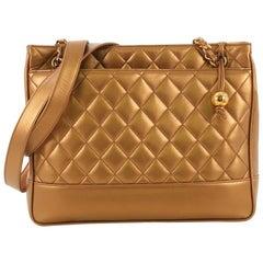 Chanel Vintage Slit Pocket Shoulder Bag Quilted Lambskin Medium