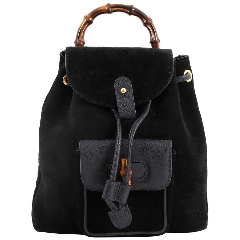 5104d059be1a Gucci Vintage Bamboo Backpack Suede Mini For Sale at 1stdibs