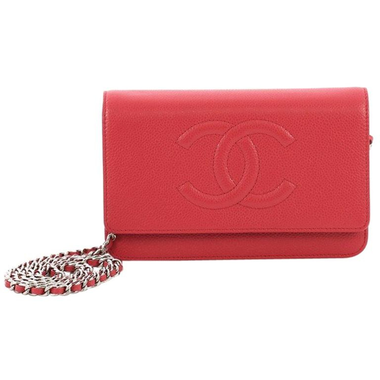 6fa88e7ab92d Chanel Timeless Wallet on Chain Caviar at 1stdibs
