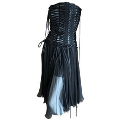 Dolce & Gabbana Daring Lace Up Corset Dress New with Tags $3295 Size 40