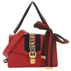 2596cdba3 Gucci Sylvie Shoulder Bag Leather Small. Gucci GG Marmont Flap Bag Matelasse  ...