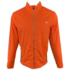 KJUS 42 Orange Polyamide Zip Up Jacket