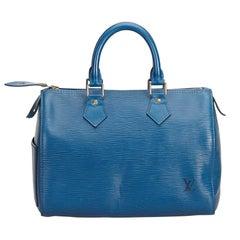 Louis Vuitton Blue Epi Leather Leather Epi Speedy 25 France