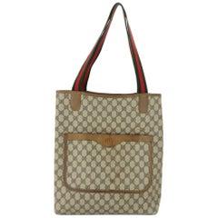 2ca9074b5e2 Gucci Monogram Gg Supreme Large Web Shopper 868051 Brown Coated Canvas Tote