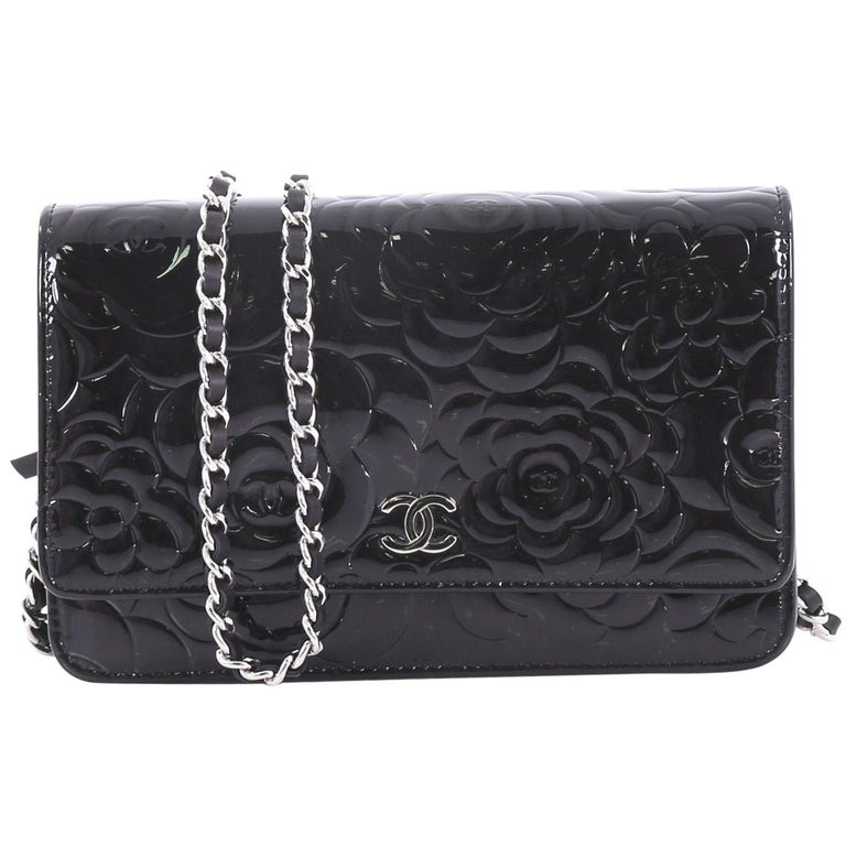 ab01cf66af9a Chanel Wallet on Chain Camellia Patent at 1stdibs