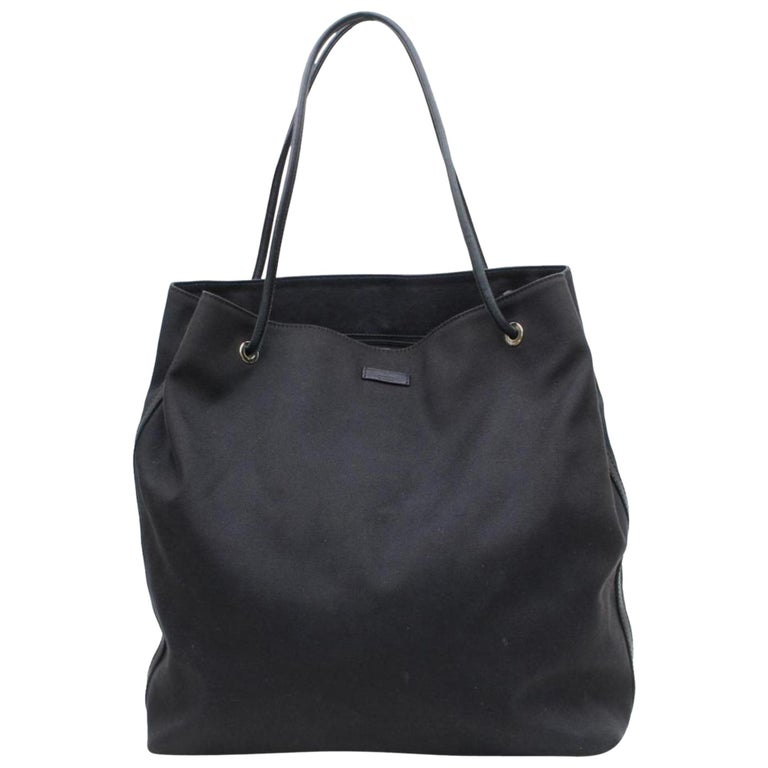 488a42285540 Gucci Large Shopper 868899 Black Canvas Tote For Sale at 1stdibs
