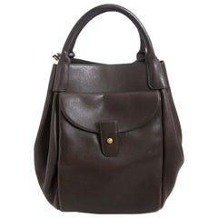 Delvaux Corail GM Brown Leather Bag