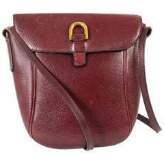 Delvaux Bordeaux Leather Crossbody Bag