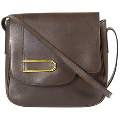 Delvaux Brown Leather Crossbody Bag