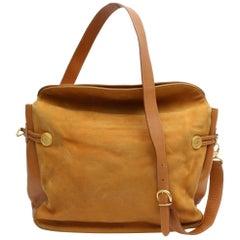 de547b948750 Gucci Burnt Orange Flap Over Shoulder 868421 Suede Leather Weekend/Travel  Bag
