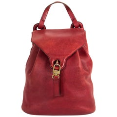 Delvaux Red Rose PM Backpack