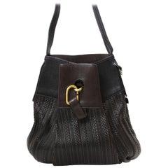 Delvaux Brown Faust Toile De Cuir Bag