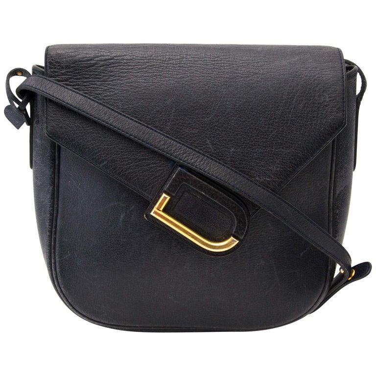 Delvaux Blue Shoulder Bag For Sale
