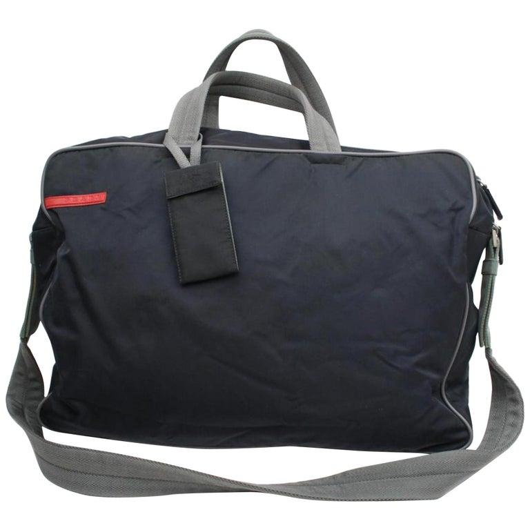 e833c08e19cb Prada Tessuto Sports 2way 868066 Black Nylon Weekend/Travel Bag For Sale
