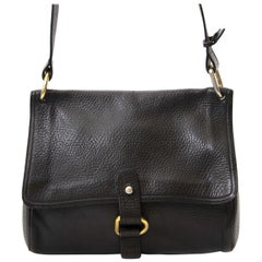 Delvaux Black Fichu Crossbody Bag