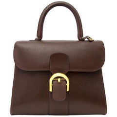 74dc39758cea58 Delvaux Brown Brillant MM GHW