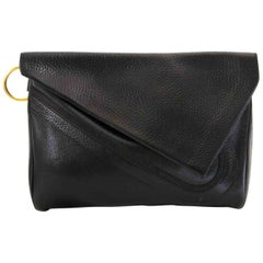 Delvaux Briudille GM Black Clutch