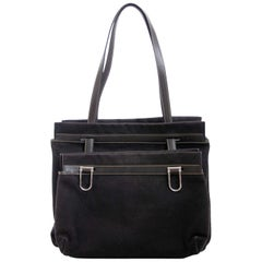 348cb1b06df5e7 Delvaux Black Fabric D Light Bag