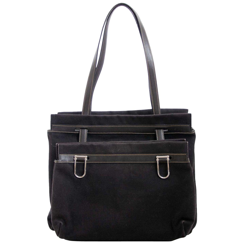 Delvaux Black Fabric D Light Bag