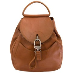 Delvaux Brown Cerceau Backpack
