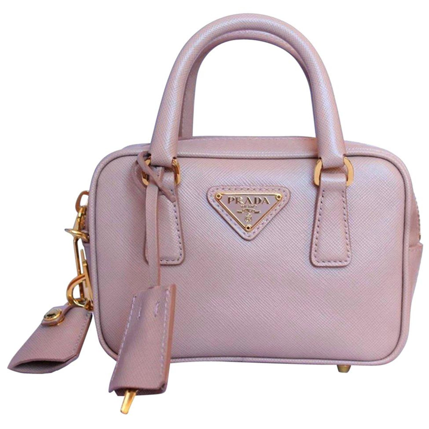 bb42a63c91ef Prada Saffiano Lux Miniature Bag at 1stdibs