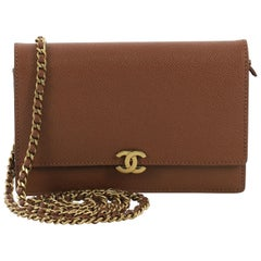Chanel Vintage CC Wallet on Chain Leather