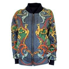 "Hermès ""L'instruction du roi"" Silk Reversible Bomber"