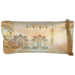 A Contemporary 'Chinatsu' clutch bag in vintage Japanese brocade from Kyoto