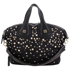 Givenchy Nightingale Satchel Studded Nylon Medium