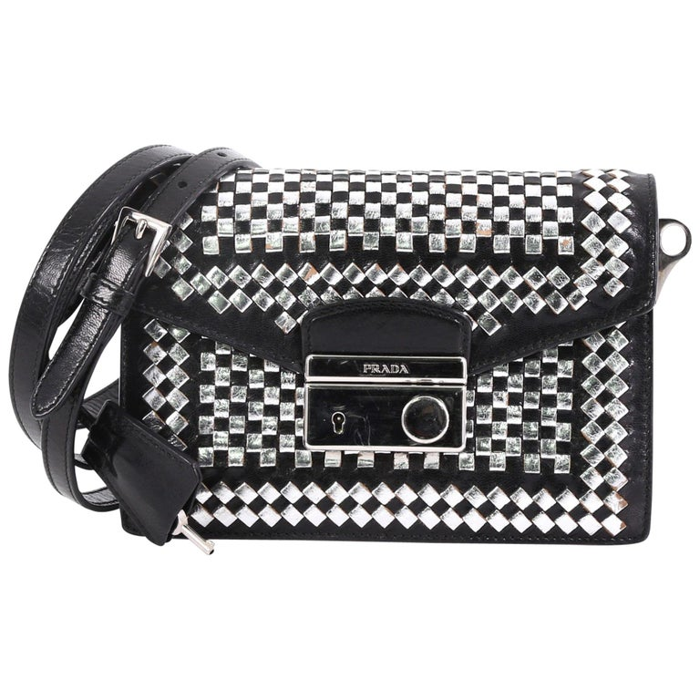 4dace7a50744 Prada Sound Bag Woven Leather Mini For Sale at 1stdibs