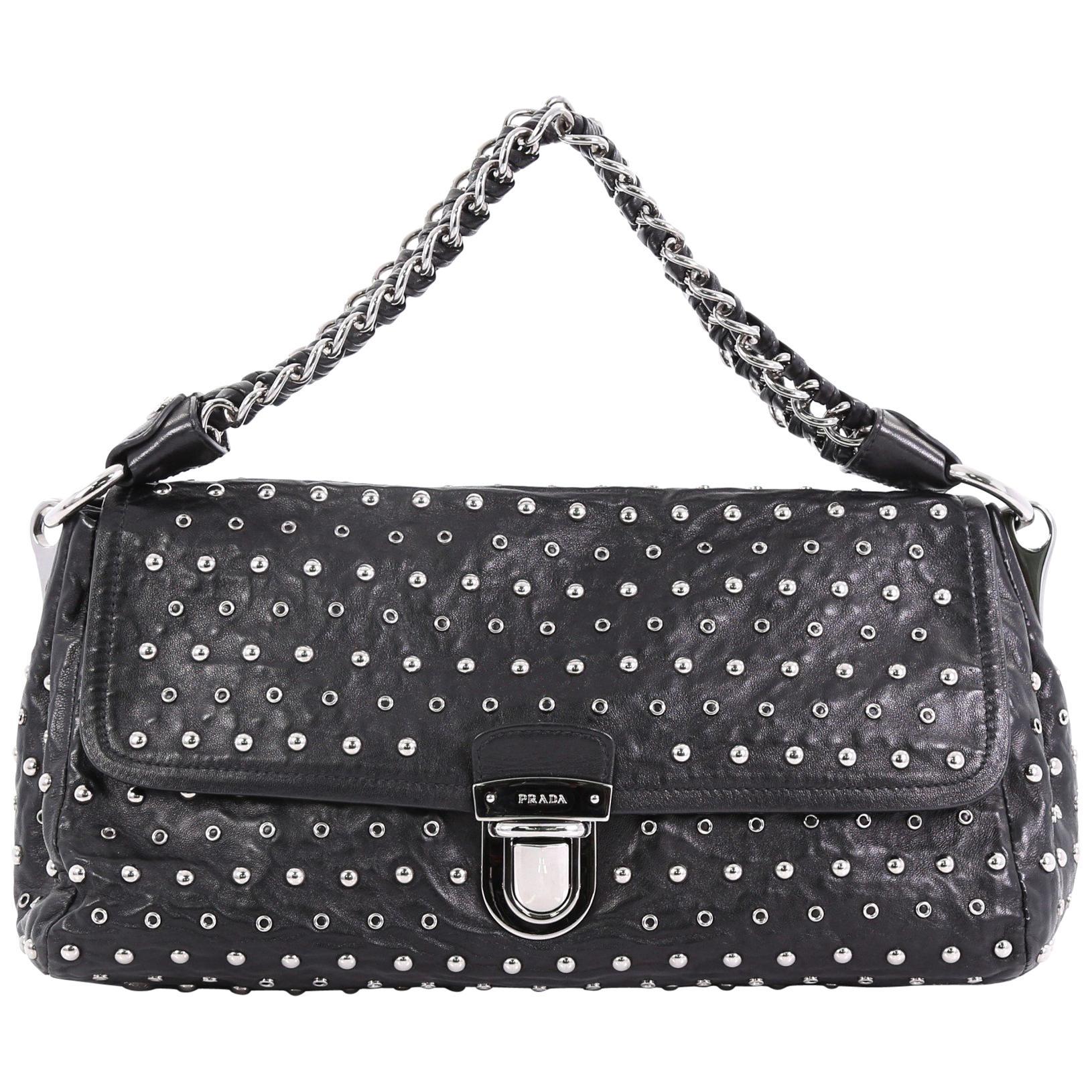 79d1532ec5d3e4 Prada Madras Frame Bag Woven Leather Mini at 1stdibs