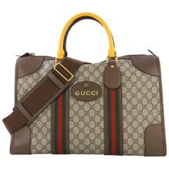 9a9e659cb41 Gucci Vintage Monogram Supreme XL Portfolio Clutch W  Web For Sale ...