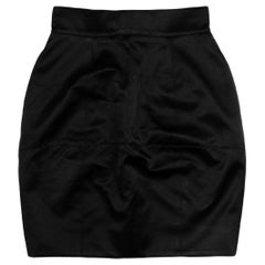 Fendi Black Silk Blend Skirt W/ Pockets IT38/US2
