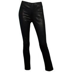 Rag & Bone Black Leather Pants Sz 6