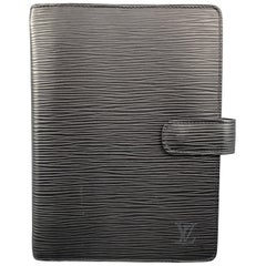 LOUIS VUITTON Black Epi Leather Medium Ring Agenda Organizer
