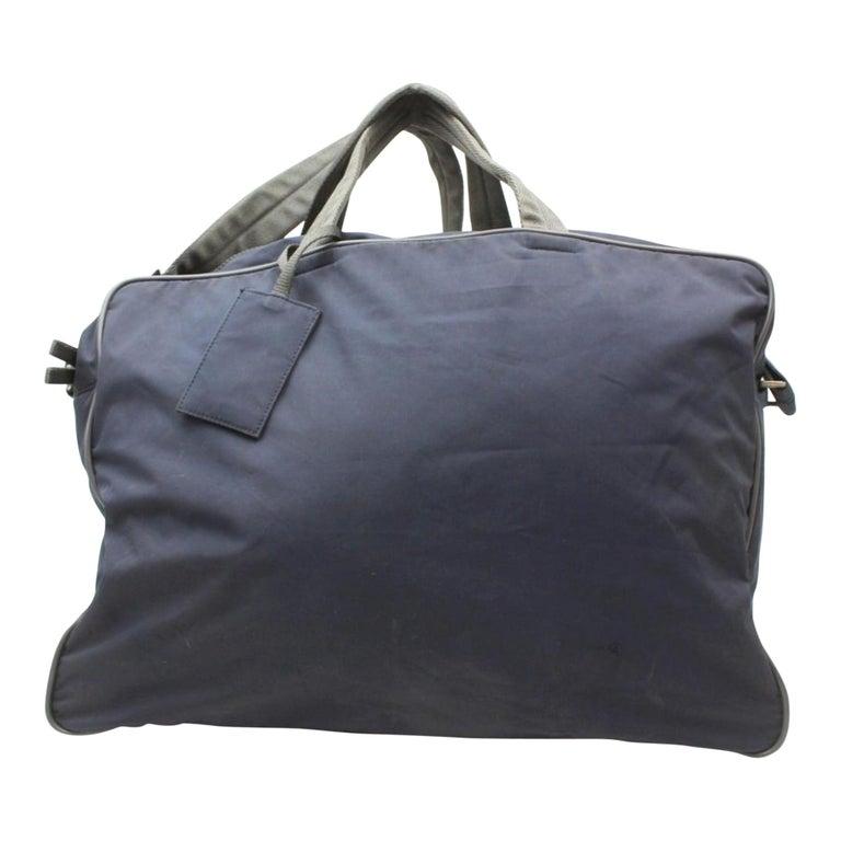 9569e3636b8c Prada Tessuto Sports Duffle 2way 869246 Black Nylon Weekend/Travel Bag For  Sale