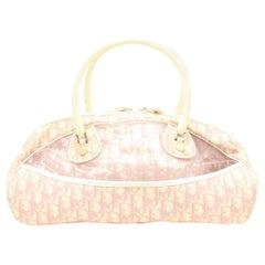 Dior Oblique Signature Trotter Boston 868417 Pink Polyurethane Shoulder Bag