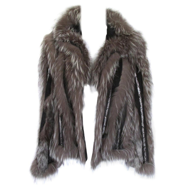 Silver Fox Fur jacket  For Sale