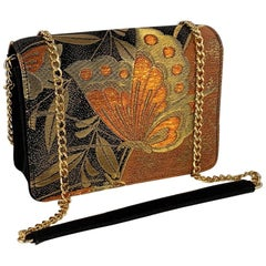 A contemporary 'Ayumi' japanese butterfly brocade melissa bag (model)