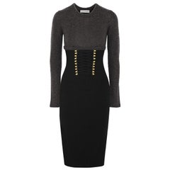 Altuzarra Ursula Two-Tone Lace-Up Detailed Knitted Dress