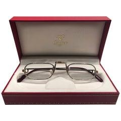 ce5bc7ee9009 New Vintage Cartier Demilune Vendome Platine 50mm Reading France Sunglasses