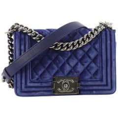 Chanel Boy Flap Bag Quilted Velvet Small