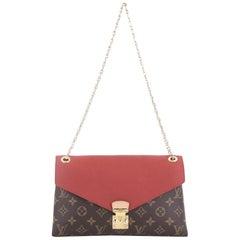 2a46a077097d Louis Vuitton Pallas Chain Shoulder Bag Monogram Canvas and Calf Leather