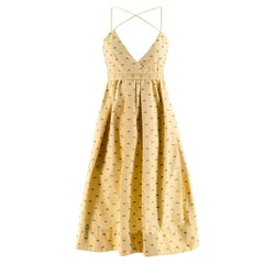 Victoria Victoria Beckham Pale Yellow Fils Coupe Dress US 4