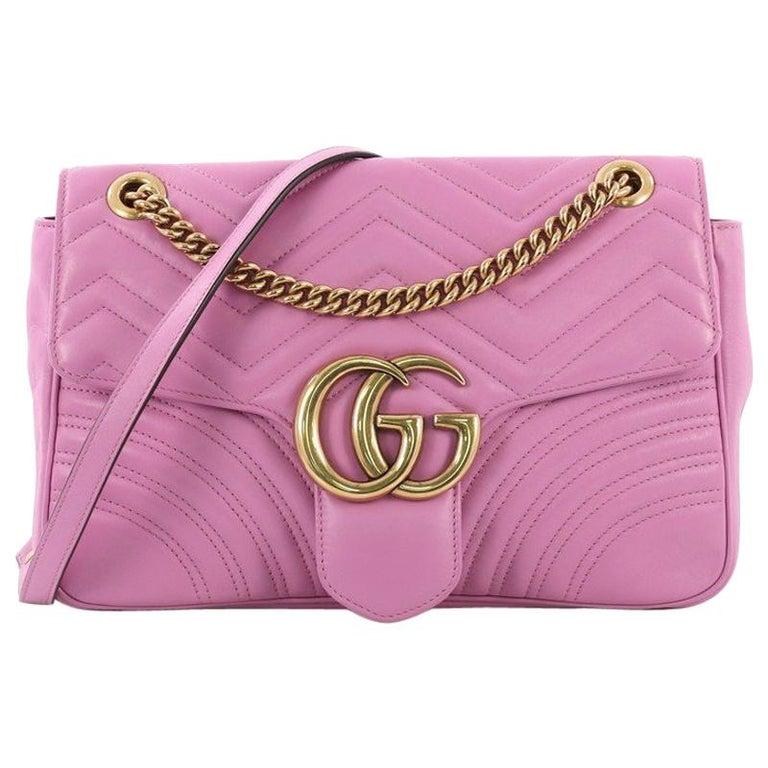 55061e63e72 Gucci GG Marmont Flap Bag Matelasse Leather Medium For Sale at 1stdibs
