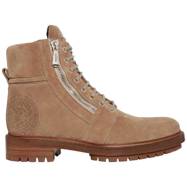 Balmain Ranger Suede Ankle Boots  For Sale