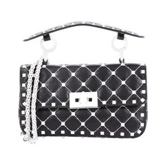 Valentino Free Rockstud Spike Flap Bag Quilted Leather Small